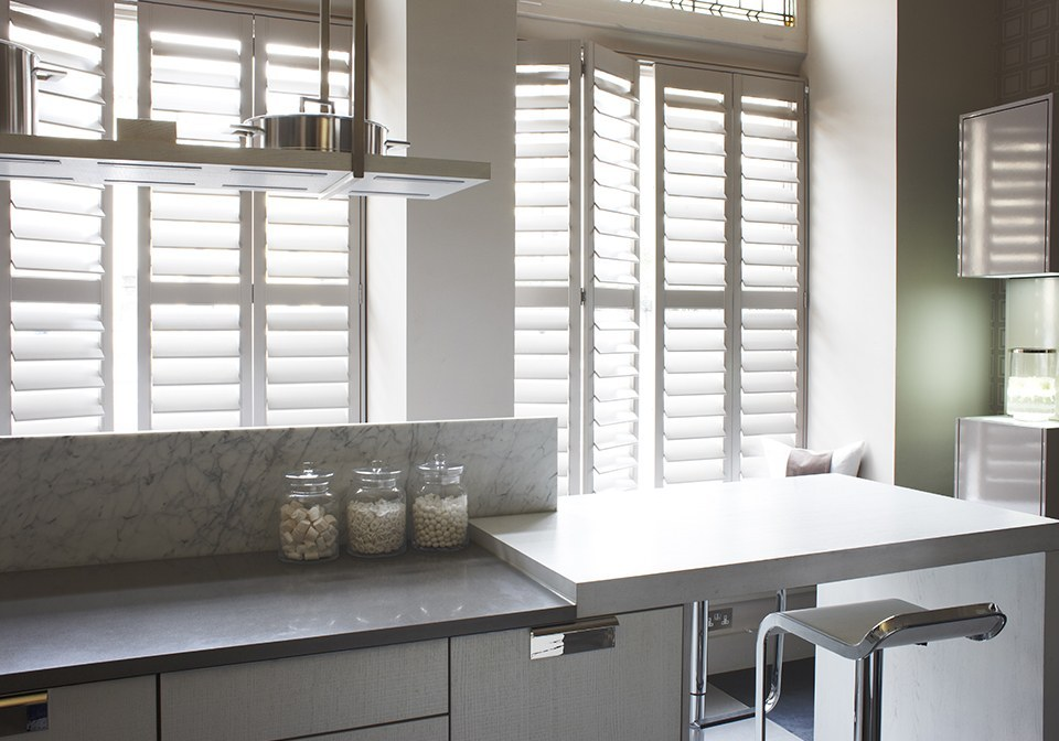 Designer Kitchen Shutters Finished In Plaster